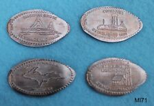 MI71 - 4 elongated pennies MICHIGAN - St. Ignace Curio Fair