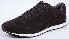 Hugo Boss Herren Sneaker Fuleos 42 UK 8 US 9 dunkelbraun Wildleder Neu