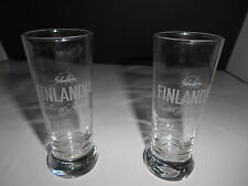 Finlandia Vodka of Finland Lot of 2 Shot Glasses Shooters Reindeer Footed