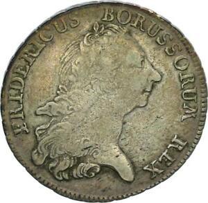 Brandenburg-Preußen Friedrich II. 1/2 Taler 1767 B (Breslau) Silber ss