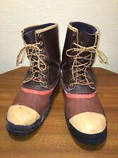 Sorel Kaufman Sentry Vintage Winter Work Boots Steel Toe Wool Liner Mens Sz ?