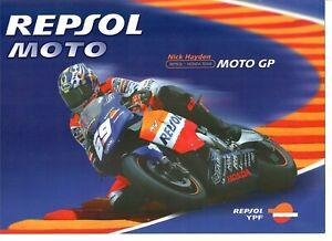Vintage Poster Card 2003 Valentino Rossi Repsol Honda RC211V MotoGP