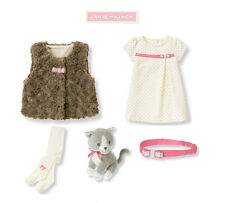 "Janie and Jack baby girl ""All in Bow""Dress/Sherpa Vest/Tights/ 5 pc Set 12-18m"