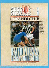 GUERIN SPORTIVO-1991- I GRANDI CLUB-4- RAPID VIENNA-AUSTRIA-ADMIRA cover KRANKL