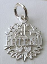 GENUINE SOLID 925 STERLING SILVER NUMBER 1 FRIEND Charm/Pendant