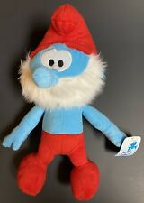 "Smurfs Papa Smurf 2010 Nanco 14"" Plush Stuffed Animal Toy Blue With Tags New"