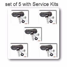 5x TPMS Tire Pressure Monitoring Sensor W/Service Kit For Toyota Highlander Rav4
