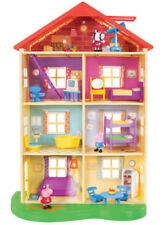 "Peppa Pig Lights 'N' Sounds Family Home Playset 22"" Doll House, George Zoe Zebra"