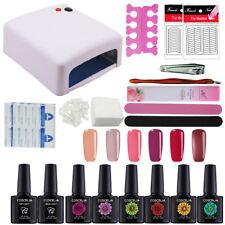 6 Pcs Gel Polish Kit 36W UV/LED Lamp Manicure Kit Nail Art Kit Toos Starter Kit