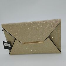 Women's Gold Glitter Clutch Envelope Hand Bag