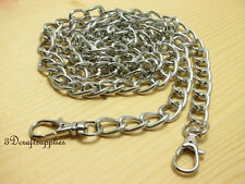 chaîne en métal pour sac à main Anses de sacs Poignée 120 cm Argenté K57
