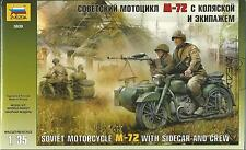 KIT ZVEZDA 1:35 MOTORCYCLE M72 WITH SIDECAR AND CREW   ART 3639
