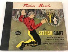 Oscar Wilde The Selfish Giant 78 Rpm 1945 USA Decca Super RARE No. 389