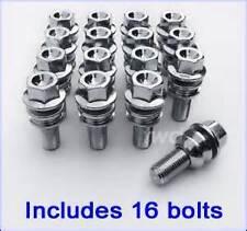 16 x Extra Lunga 58mm BULLONI RUOTE PER BAMBINO PORSCHE 986 987 con distanziatori