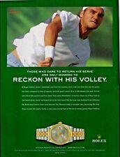 "2003 Rolex Roger Federer ""Tennis Great"" ⌚ Vintage Print Advertisement"