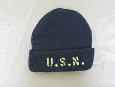 US ARMY Watch Cap USN Plantilla Navy Black m-4 MECHANICS USMC II Guerra Mundial