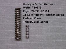 Wolff RIFLE SPRING KIT for Ruger 77/22 77/17 77/44 77/357  W30375 - Reduced Pull