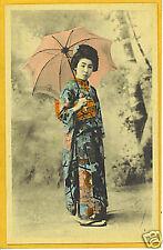 Japanese Postcard - Geisha with Umbrella Japan