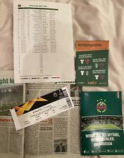 Rapid Vienna V Arsenal Europa league 22/10/20. Set Of 8 Items Inc Match Ticket.