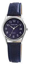 Damen Herren Armbanduhr Datum Excellanc Kunstleder Armband Uhr Blau 297023000005