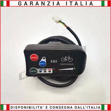 Display per Bicicletta Elettrica E-Bike LED 24 Volt  - Connessione STANDARD