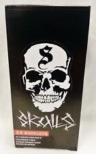 Full Box 24 Packs SKULLS 1 1/2 Sugar Base Cigarette Rolling Papers Free Shipping