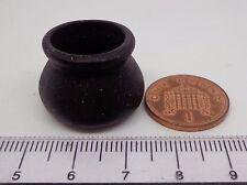 1:12 Black Ceramic Cauldron Dolls House Miniature  Witch Accessory