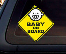 Baby on Board: Warning Car Decal/Sticker