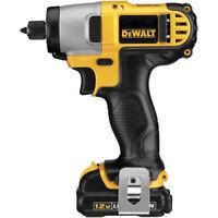 DEWALT 12V MAX Li-Ion 1/4 in. Impact Driver Kit DCF815S2 New