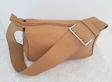 FURLA leather bag with buckle strap - Colour camel