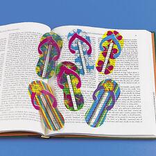 48 FLIP FLOP SANDAL shaped ruler bookmarks Luau Beach Tiki Hawaiian Party Favors