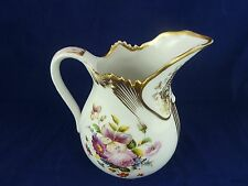 Beautiful Vintage Ornate Large Gold and Flowered Pitcher