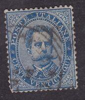 Italy - 1879 - 25c blue - SG34 Used (C6B)