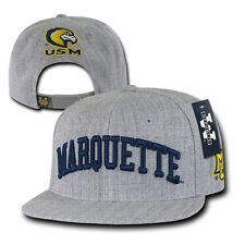 Gray Marquette Golden Eagles USM Flat Bill NCAA Snapback Baseball Ball Hat Cap