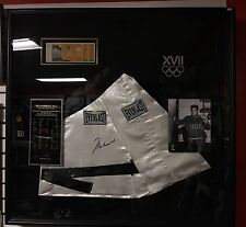 MUHAMMAD ALI - Signed Autographed Boxing Robe 1960 Rome Olympics Framed Collage