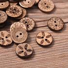 50/100pcs Wood Love Heart Handmade 2 Holes Wooden Buttons Sewing Scrapbooking
