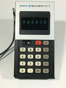 Vintage SPERRY REMINGTON Model 661-D Electronic Calculator W/ Manual
