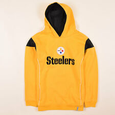 Reebok Junge Kinder Hoodie Kapuzenpullover Gr.164 NFL Pittsburgh Steelers, 64445