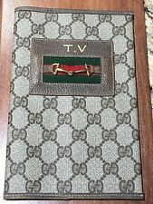 EUC RARE Vintage GUCCI TV Guide Notebook Agenda Cover Passport Wallet Bag
