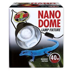 Zoo Med Nano Dome Reflector, Ceramic Heater, LED, Halogen, Basking Spot Bulb