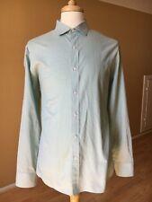 J.Crew Long Sleeve Mens Button Up Shirt Green Checks XL 120s 2 Ply Cotton J Crew