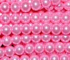1 string round glass pearl beads 4mm/200pcs, 6mm/150pcs, 8mm/100pcs 10mm/80pcs