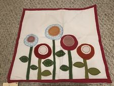 "Nwt Pottery Barn Kids Flower decorative pillow cover 16"" sham."