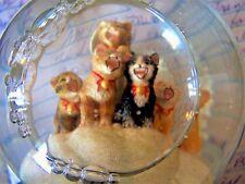 San Francisco Music Box Co. Caroling Kittens Musical Christmas Snow Globe