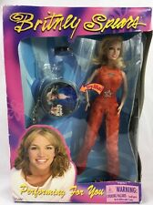 Britney Spears Doll Performing For You Concert Tour Red Sparkle Jumpsuit NIB Pop