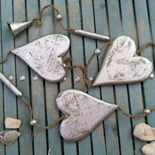 GORGEOUS SILVER/GOLD HEART CHRISTMAS GARLAND Decorations Bells Wall Hanging