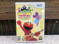 Sesame Street: Elmos Musical Monsterpiece (Nintendo Wii 2012) Complete! TESTED!