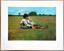 Winslow Home  Boys in the Pasture  Vintage 1st Ltd Ed Original 1960 Lithograph