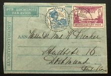 1932 Pati Netherlands Indies Air Letter Cover To Dortmund Holland