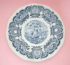 "Historical Ports of England Blue 6"" Bread Butter Side Plate Port of Hull NICE!"